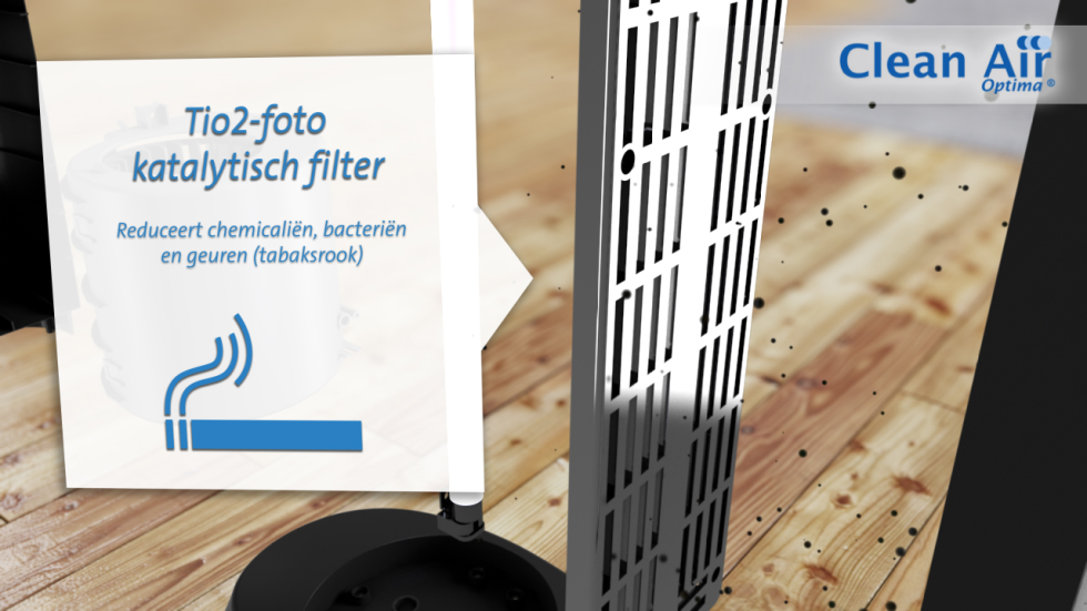 Het hoge rendement van de Clean Air Optima luchtreinigers met HEPA-filter zorgt voor