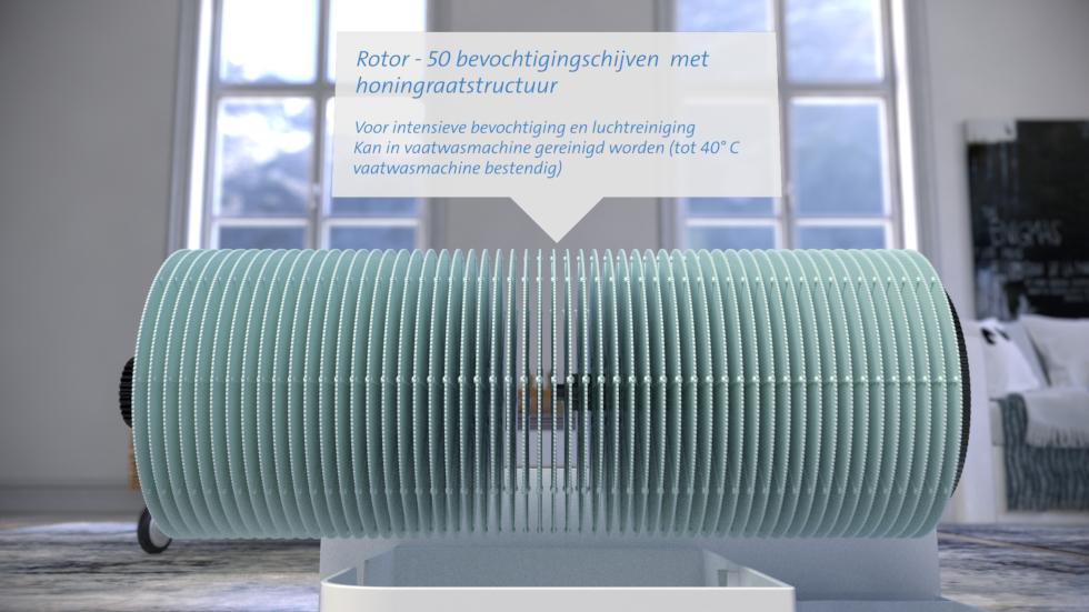 Luchtwasser luchtbevochtiger luchtreiniger Clean Air Optima CA-807